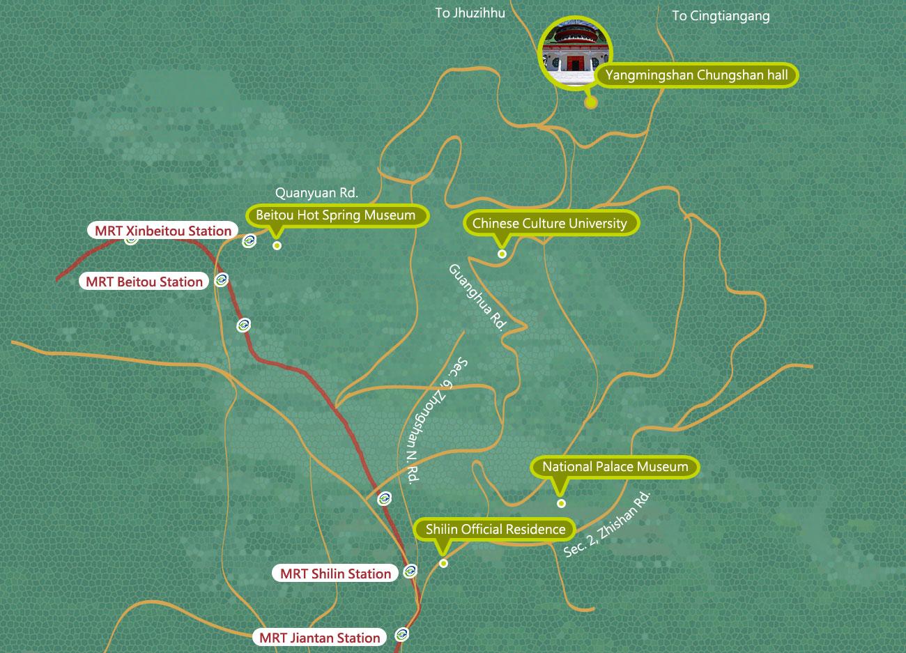 中山樓交通地圖
